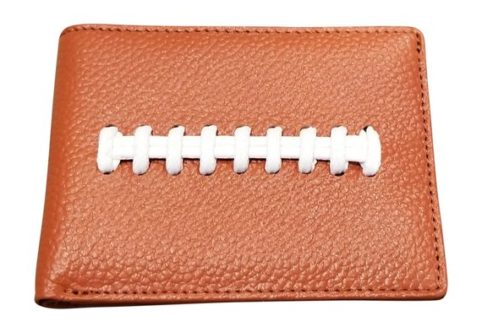 This fun Thank You Gifts for Football Coaches keeps his money stylish and safe.