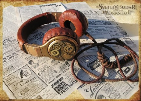 Your husband is going to love these steampunk headphones 50th birthday present
