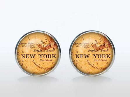 New York New York Cufflinks Gift Ideas for your Husband's 50th Birthday