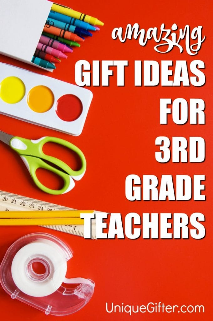 You can shower your child's 3rd grade teacher with gifts throughout the year - there's start of the school year gifts, teacher appreciation week gifts, Christmas gifts and finally a huge teacher thank you gift for the end of the school year.