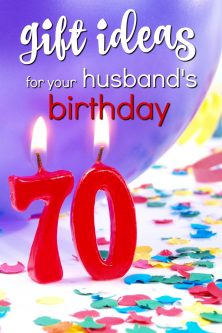 20 Gift Ideas for Your Husband's 70th Birthday