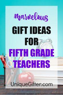 20 Gift Ideas for 5th Grade Teachers