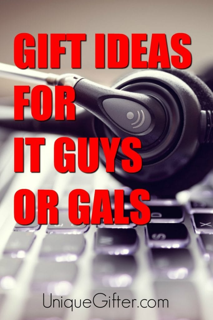 Say thank-you to the service desk or your IT guy or gal with one of these great gift ideas! | Gift ideas for IT guy | Help desk thank yous | Christmas presents for IT guy or girl | Presents for IT guy or gal | Service desk gifts
