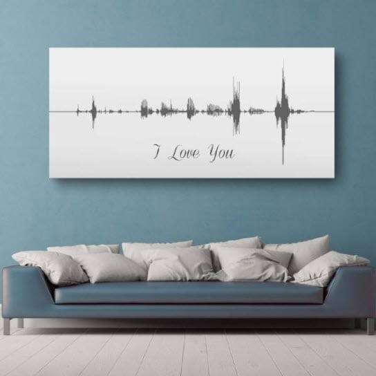 sound wave anniversary gift wall art