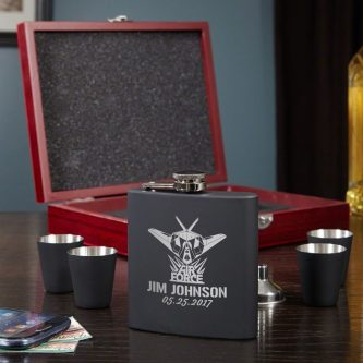 This air force retirement gifts is one they'll enjoy taking sips out of.