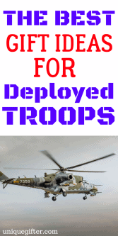 Gift Ideas for Deployed Troops | Military Deployment Gift Ideas | Army | Navy | Air Force | Marines | Armed Forces | Gifts for a deploying girlfriend | What to get my boyfriend when he deploys | Gifts for Dad for his tour of duty | Presents for Mom's tour of duty | Military Wife | Military Husband | Farewell gifts | Send off gift ideas