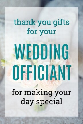 Thank You Gifts for Your Wedding Officiant | How to thank a wedding officiant | Gift ideas for a wedding officiant | What to get a wedding MC | Wedding emmcee presents