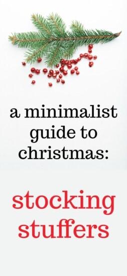 a minimalist guide to christmas - stocking stuffers