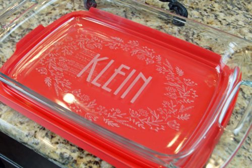 Custom engraved dish perfect thank you gift idea for mentors