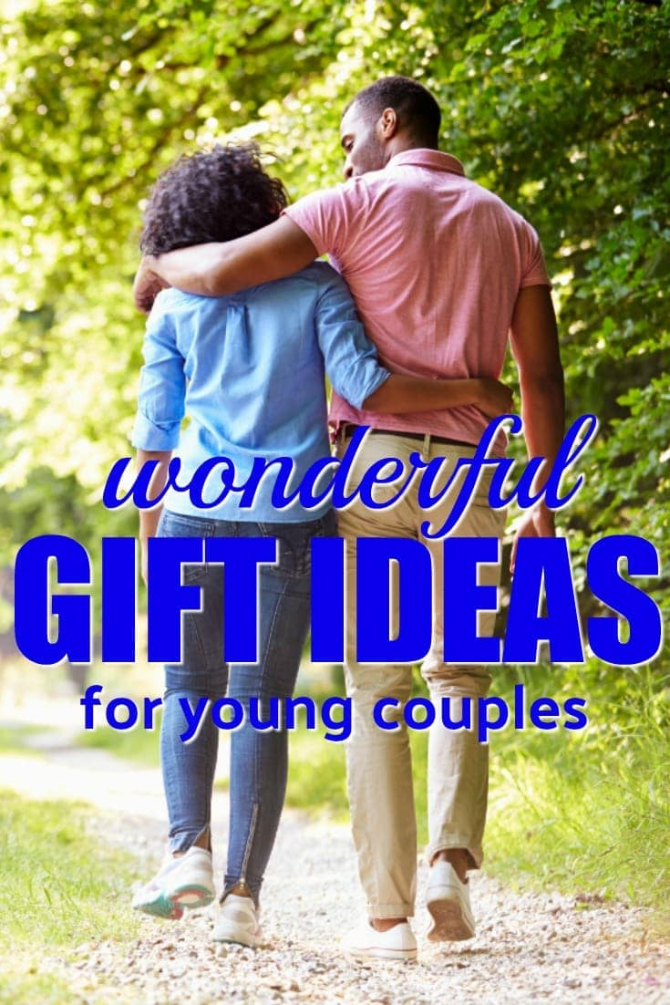 "Looking to shower some love on a young couple in your life? Get them one of these gift ideas for a young couple. Young couples need (and appreciate!) Christmas gifts, anniversary presents, birthday gifts and ""hey, thanks for thinking of us"" presents."