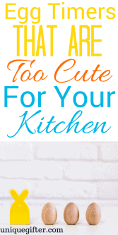Egg Timers that are Too Cute for your Kitchen | Fun kitchen accessories | Gifts for a chef | Gifts for a cook | Creative hostess gift ideas | Thank you gifts for hosts | Adorable accessory ideas