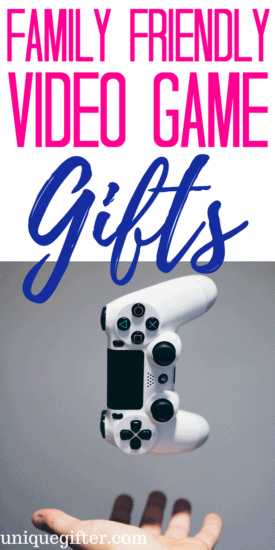 Family Friendly Video Game Gifts   Gifts for the whole family   Creative family gifts   Gamer Gifts   Nerd presents   Nerdy gift ideas   PG-13 ideas   What to buy as a family gift