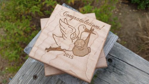 Your pregnant friend will love these coasters as a gift idea