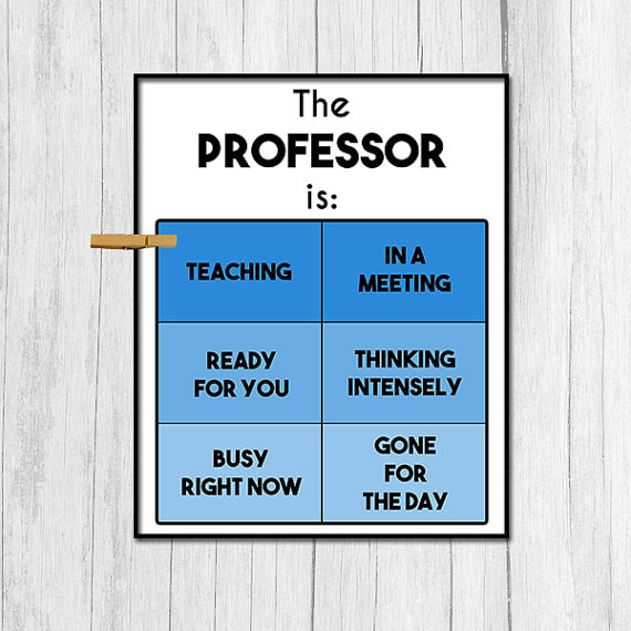 Practical Gift Ideas for a Professor - professor sign