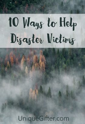 10 ways to help disaster victims