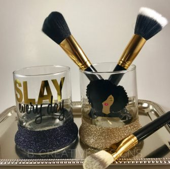 makeup brush holders customized