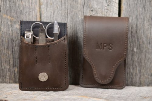 Men's leather manicure set