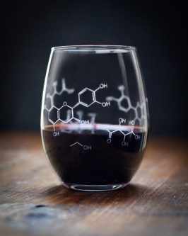 wine chemistry composition stemless glass