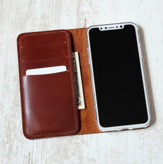 personalized luxurious leather phone wallet Gift Ideas for your Rich Friend