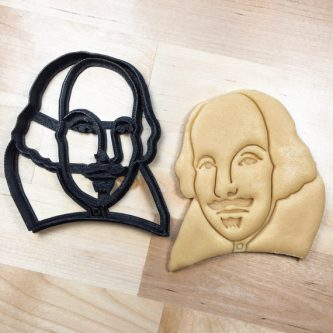 Gift ideas for Shakespeare lovers include this cookie cutter if they're a baker.