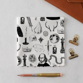 Gift ideas for Shakespeare lovers include dapper ones like this.