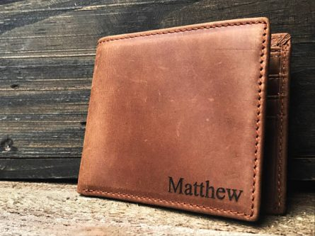 Cool personalized wallet stocking stuffer for teenage boy