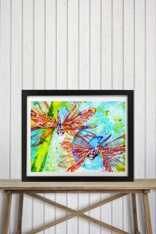 Gift ideas for dragonfly lovers would be beautiful in an office.