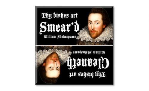 People have to wash dishes so why not this gift ideas for Shakespeare lovers?