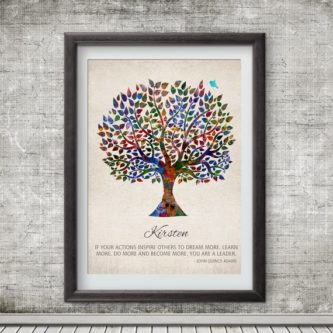 This beautiful retirement gifts for teachers would look great on any wall.