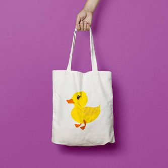 A cute ducky tote bag is perfect for gift ideas for duck lovers.