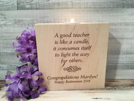 This retirement gifts for teachers would look cute on any mantle.