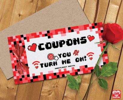 Gamer valentine's gift ideas can include cute cosplay coupons.