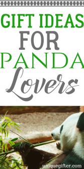 Gift Ideas for Panda Bear Lovers