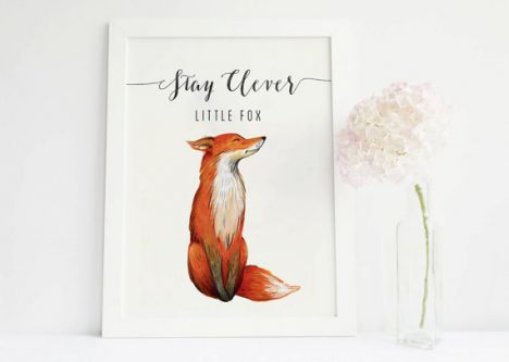 This gift ideas for fox lovers would be cute anywhere in their house.