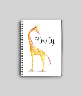 This notebook is a perfect gift ideas for giraffe lovers.