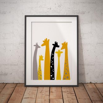 This gift ideas for giraffe lovers would be cute anywhere!