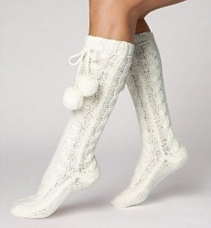 These fuzzy socks are perfect for gift ideas for an older woman.