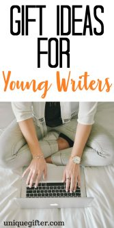 Gift Ideas for Young Writers   Birthday Gifts for Bookworms   Aspiring Writer Presents   Christmas Gift Inspiration for someone who loves to write   What to buy a budding journalist   Gifts for Teenagers   Gifts for College Students   Creative writing gifts