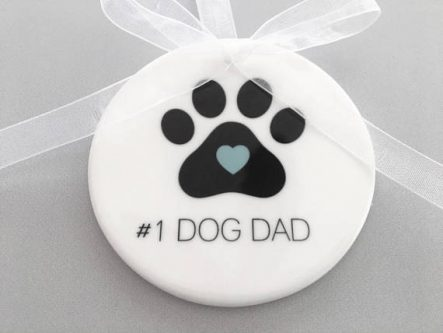 Father's day gifts for dog dads include cute ones for the tree.