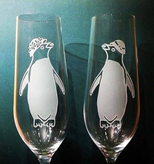 Some people have lobsters, some people have penguins. This anniversary gifts for a gay couple is perfect.