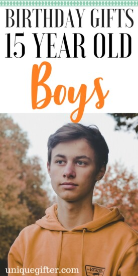 Birthday gifts for 15-year-old boys | Presents for 15 year old boys | What to get my boyfriend | Christmas gifts for teenage boys | Teen guy gifts | Birthday presents for my son | what to buy a teenager | high school student gifts | for him | for males | for men
