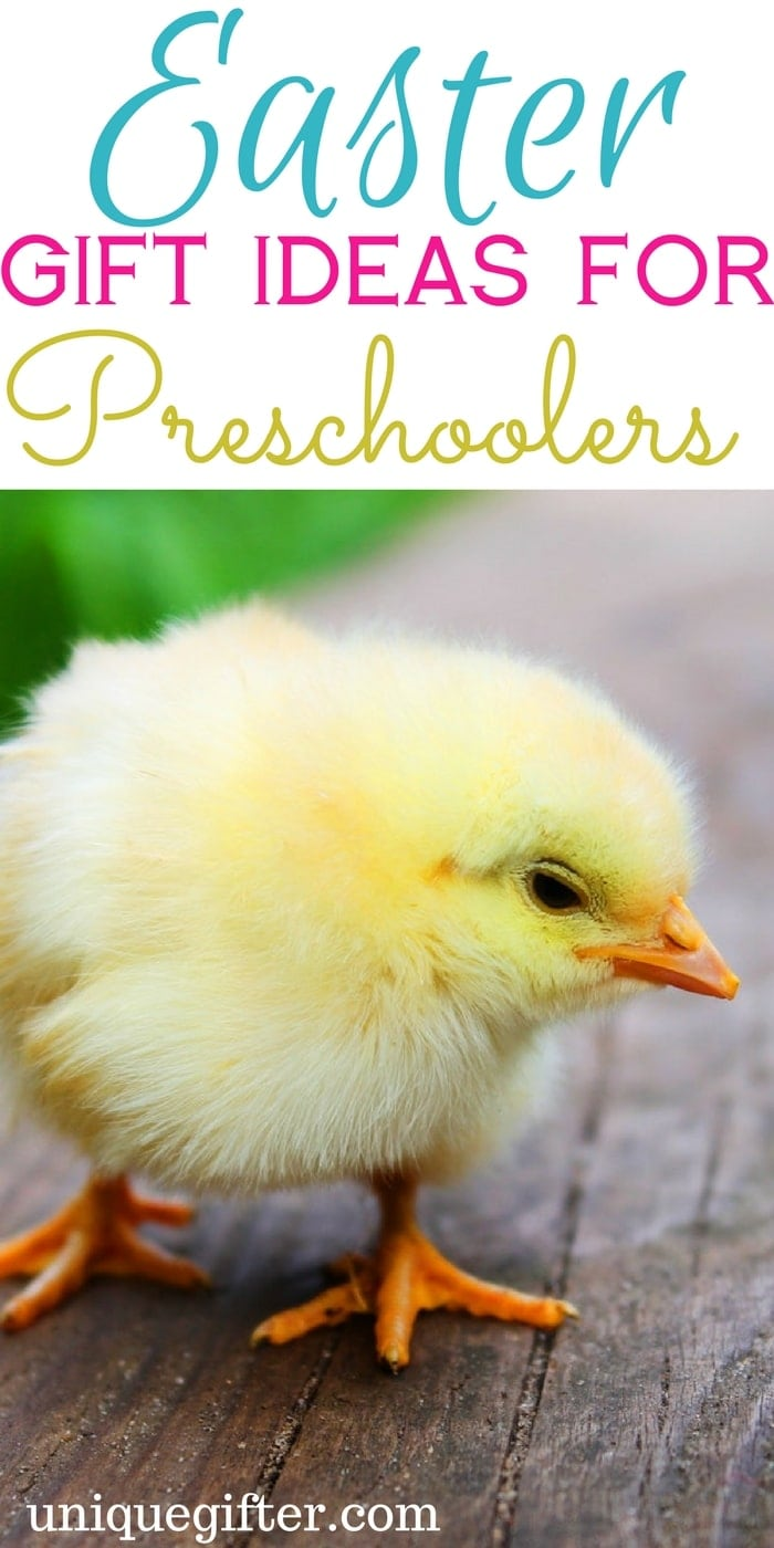 Easter Gift Ideas for Preschoolers   What to get a 4 year old for Easter   Easter Bunny Ideas   Creative Easter baskets for small children   Little kid Easter Ideas   5 year old gifts   3 year old presents   Toddler gifts   Pre-K presents