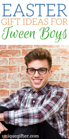 Easter Gift Ideas for Tween Boys | What to get a pre-teen for Easter | Creative Easter Presents for a boy | Easter basket fillers | Gifts for guys | Easter Bunny activities