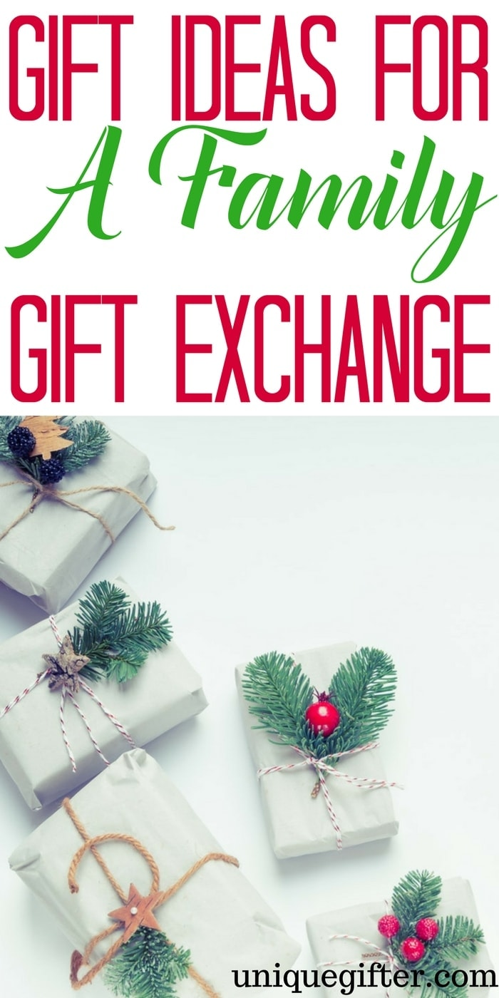 The best gift ideas for a family gift exchange | Gifts for the whole family | Christmas gift ideas where you draw names | Gifts for when you exchange names | Creative ways to spend less at Christmas | Budget friendly Christmas tips | Cheap gift tips for Christmastime