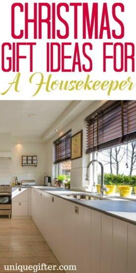 Christmas Gift Ideas for a Housekeeper | Thank You gifts for cleaning service | Creative presents for a weekly cleaner |