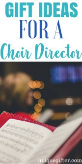 20 Gifts for a Choir Director