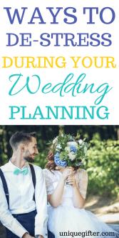 20 Ways to Destress During Wedding Planning