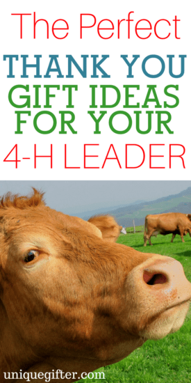 Thank You Gift Ideas for Your 4-H Leader | Presents for 4H leaders | How to thank a 4-H leader | Head, Hands, Heart and Health | Rural Living gifts | Young farmer gifts