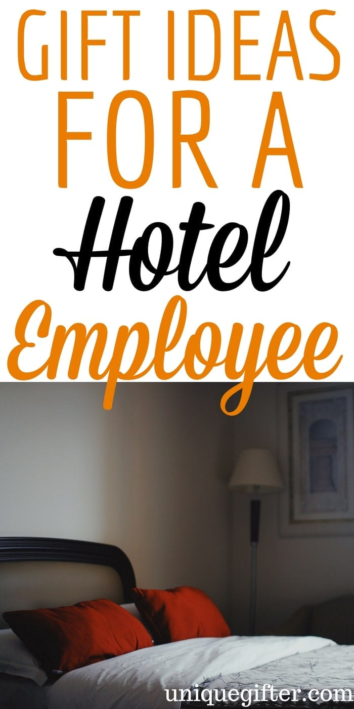 gift ideas for a hotel employee | Creative thank you gifts for hotel staff | What to buy hotel workers for Christmas presents | Hospitality Industry worker gift ideas | Staff motivation gifts for hotels | Housekeeping manager gifts | Night manager gifts