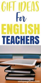Gift Ideas For English Teachers